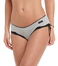 DKNY® Heather Gray/Black Cotton Cutie Bikini