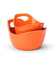 Rachael Ray® 2-pc. Orange Stoneware Mixing Bowl