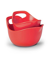 Rachael Ray® 2-pc. Red Stoneware Mixing Bowl