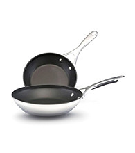 KitchenAid® Gourmet Stainless Steel Twin Pack of Nonstick Skillets