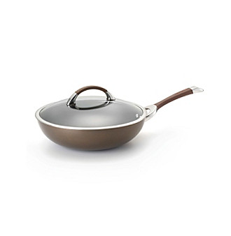 "Circulon Symmetry Chocolate 12"" Covered Stir Fry (Ultimate Pan)"