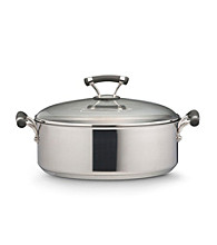 Circulon Contempo Stainless Steel 7.5 Qt. Covered Nonstick Wide Stockpot