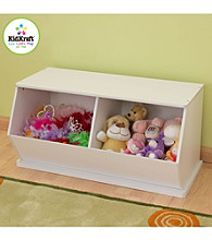 KidKraft White Double Storage Unit
