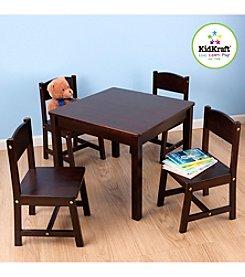 KidKraft Farmhouse Espresso Table & Chair Set