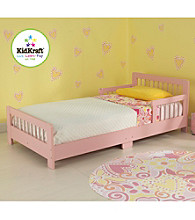KidKraft Pink Slatted Toddler Bed