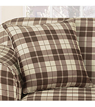 Sure Fit® Soft Suede Plaid Pillow