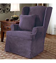 Sure Fit® Soft Suede Wing Chair Slipcover