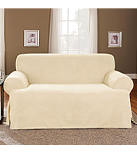 Sure Fit® Soft Suede 1-pc. T-Cushion Loveseat & Sofa Slipcover