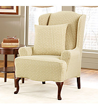 Sure Fit® Stretch Baxter Wing Chair Slipcover