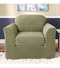 Sure Fit® Stretch Squares 2-pc. Separate-Seat Chair Slipcover