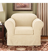 Sure Fit® Suede Supreme Separate-Seat Chair Slipcover