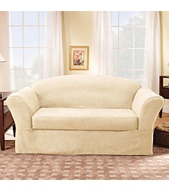 Sure Fit® Suede Supreme Separate-Seat Loveseat & Sofa Slipcover
