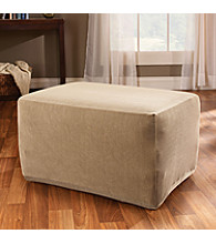 Sure Fit® Stretch Stripe Ottoman Slipcover