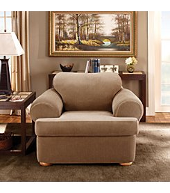 Sure Fit® Stretch Stripe Separate-Seat T-Cushion Chair Slipcover