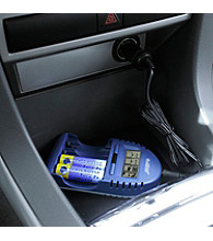 La Crosse Technology® Battery Charger with Car adapter - Blue