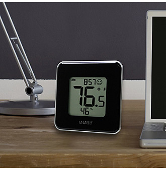 La Crosse Technology® Indoor Temperature and Humidity Station - Black