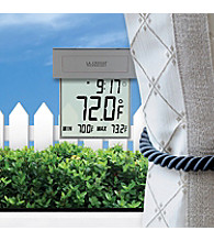 La Crosse Technology® Solar Window thermometer with backlight - Silver