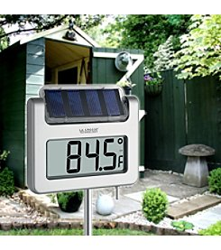 La Crosse Technology® Solar powered digital garden thermometer with backlight