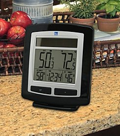 The Weather Channel Solar Powered Temperature & Humidity Station with Solar Powered Outdoor Sensor
