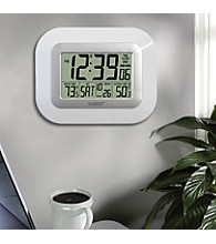 La Crosse Technology® Digital Atomic Wall Clock with Solar Sensor