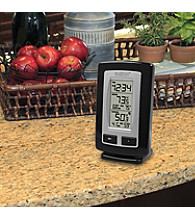 La Crosse Technology® Wireless Temperature Station with Time - Black
