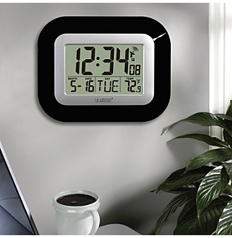 La Crosse Technology® Atomic Clock with Temperature - Black