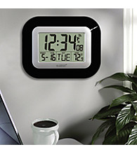 La Crosse Technology® Atomic Clock with Temperature - Black