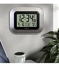 La Crosse Technology® Atomic Clock with Temperature - Silver