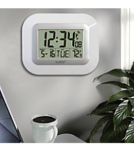La Crosse Technology® Atomic Clock with Temperature - White