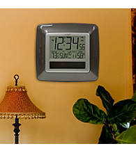 La Crosse Technology® Solar Atomic Digital Clock with Temperature and Humidity - Bronze