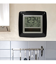 La Crosse Technology® Solar Atomic Digital Clock with Temperature and Humidity - Black