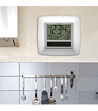 La Crosse Technology® Solar Atomic Digital Clock with Temperature and Humidity - White