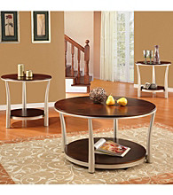 Home Interior 3-pc. Cherry Contemporary Occasional Set