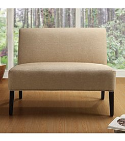 Home Interior Beige Armless Loveseat