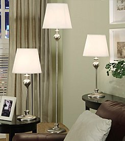 Home Interior 3-pc. Silver Lamp Set
