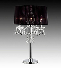 Home Interior Contemporary Black Table Lamp