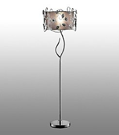 Home Interior Leaf and Flower Metal Floor Lamp