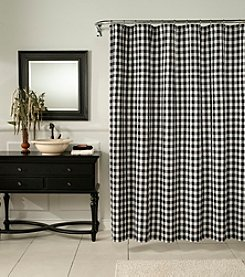 m.style™ Classic Check Midnight Shower Curtain or Window Valance
