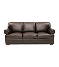 Chateau D'Ax Malone Rollarm Brown Leather Living Room Furniture Collection