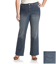 Relativity® Casual Plus Size Flawless Bootcut Denim Jeans
