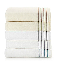 LivingQuarters Perfect Performance Stripe Bath Towel Collection