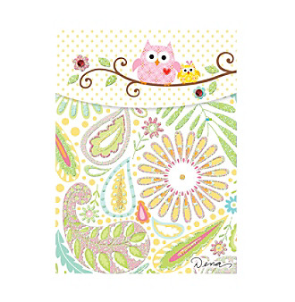 Sunrise Publications Owls on Branch Pocket Note