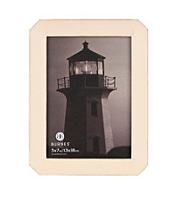 Burnes of Boston® Octagon Distressed Ivory Picture Frame Collection