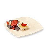 Eco Life™ Square Beige Chip n' Dip with Removable Dish
