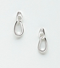 Napier® Silvertone Oval Drop Earrings