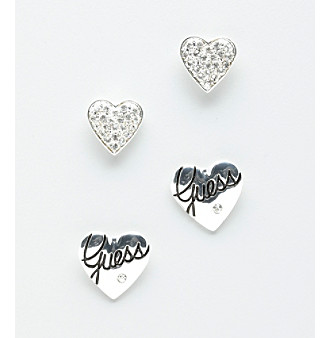 GUESS Heart Stud Earring Set