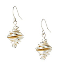 Kenneth Cole® Silvertone Stacked Disc Drop Earrings
