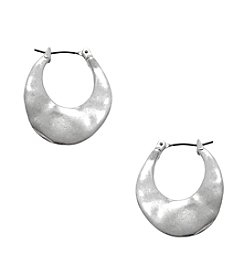 Kenneth Cole® Silvertone Small Hoop Earrings