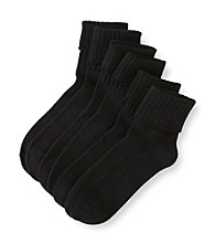 HUE® 3-pk. Air Turncuff Socks