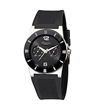 Kenneth Cole New York® Men's Round Dial Black Rubber Watch